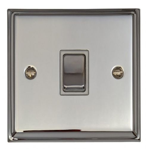 G&H DC205 Deco Plate Polished Chrome 1 Gang Intermediate Rocker Light Switch